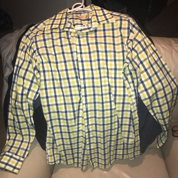 Haggar Other - Green, blue & white button down.